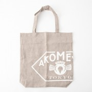 AKOMEYA linen100% bag (made in Japan) BExWH トートバッグ