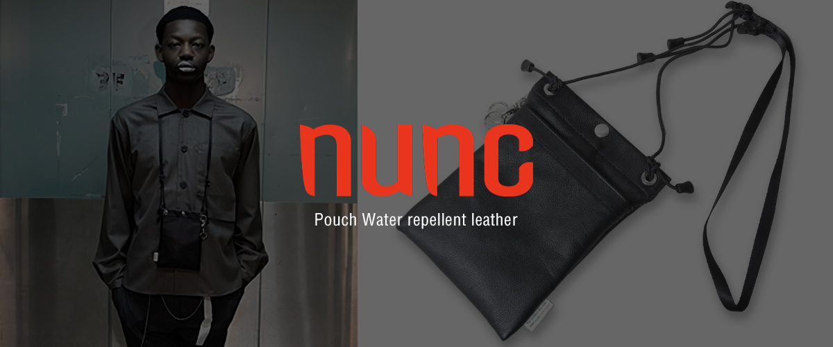 nunc ヌンク ポーチ Pouch Water repellent leather NN452010